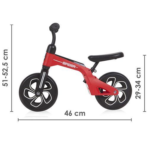 Balance bike Spider red 2