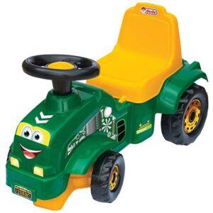 zelena guralica u obliku traktora dede