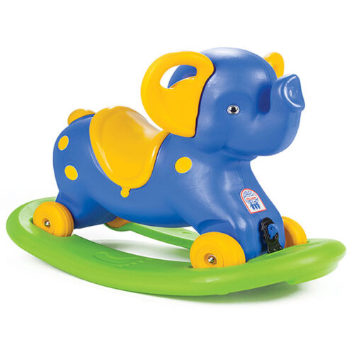 plavi slon guralica i klackalica Pilsan