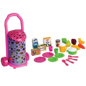 Roze kolica sa namirnicama Candy