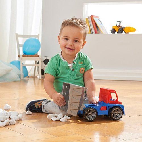 Plavo narandzasti kamion kiper Lena 27 cm
