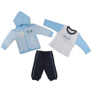 plavo beli kompletic trenerka za decaka mybaby
