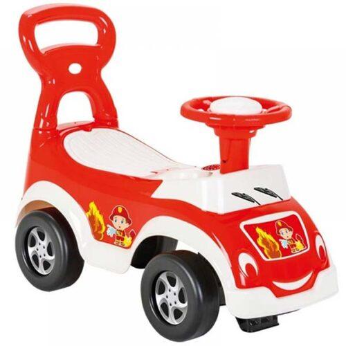Crvena guralica za bebe vatrogasac