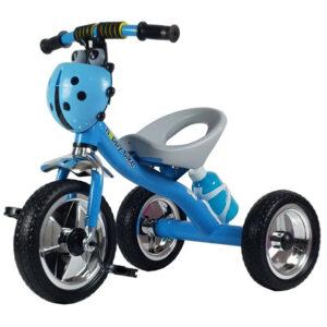 Plavi metalni tricikl za decu