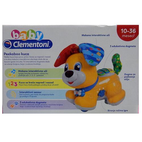 edukativna kuca za bebe Clementoni Peekaboo 2 naslikana na kutiji