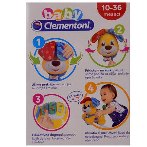 edukativna kuca za bebe Clementoni Peekaboo 3 slika na kutiji od igracke