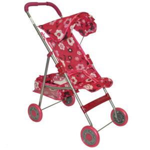 Sarena kolica za lutke sa motivom cveta