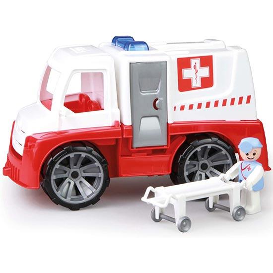 Crveno beli kamion Hitna pomoc Lena