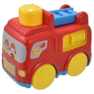 Crveno zuti vatrogasni auto za decu