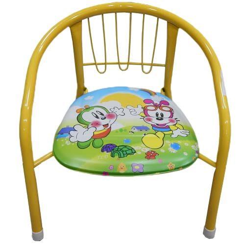 Metalna stolica za bebe zuta