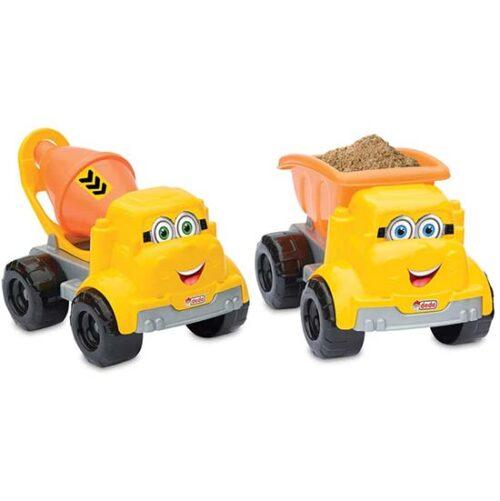 Dva zuta kamiona za decu