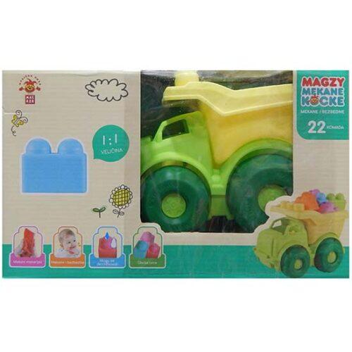 Kamion i mekane kocke za decu Magzy