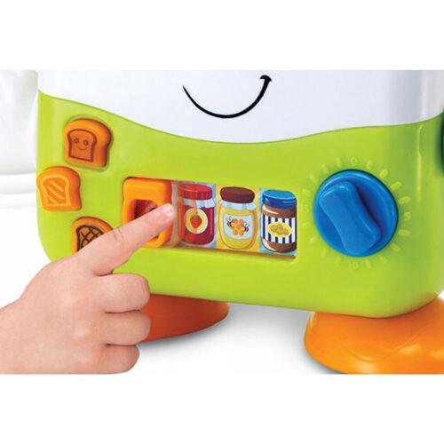 toster igracka za decu zeleno bele boje sa dugmicima za interakciju