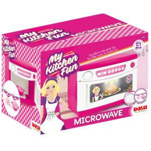 Roze kutija sa mikotalasnom pecnicom