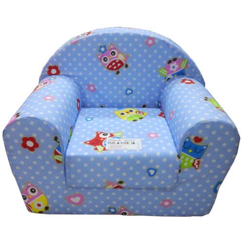 Fotelja za decu Soft Sovica