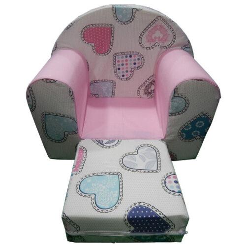 Foteljica za decu Soft Srce roze 2