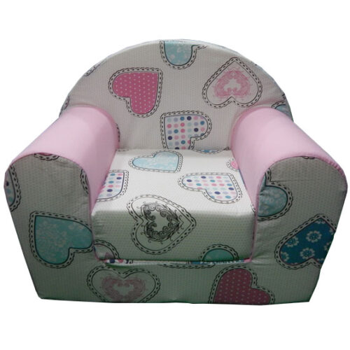 Foteljica za decu Soft Srce roze