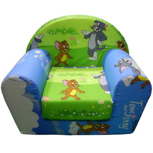 Foteljica za decu Soft Tom i Dzeri