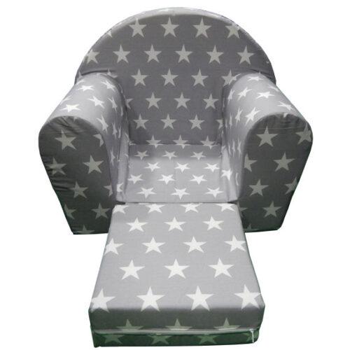 Foteljica za decu Soft Zvezdice sive 2