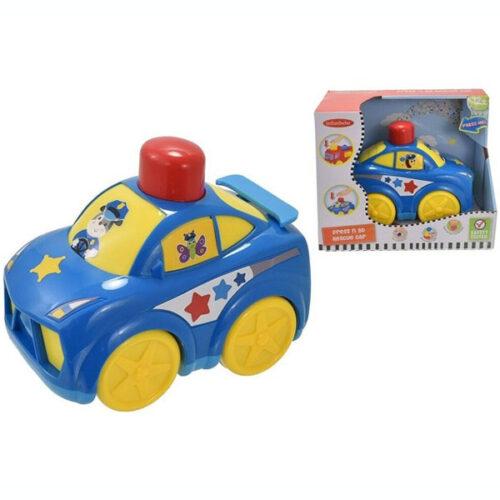 Plavi auto za bebe policija Infunbebe