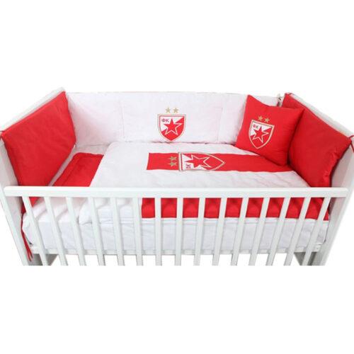 Posteljina ogradica za krevetac Crvena Zvezda