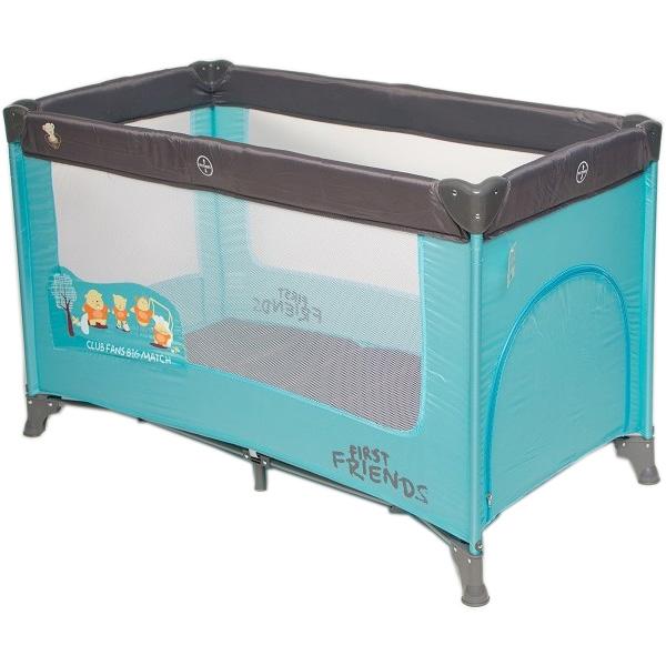 Prenosivi krevetac Dreamplay print plavi