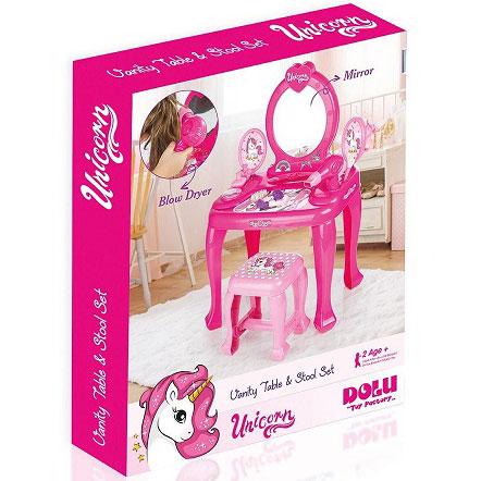 sto i stolica za ulepsavanje unicorn