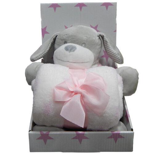poklon set za bebe kuca roze