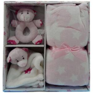 poklon set za bebe trio roze