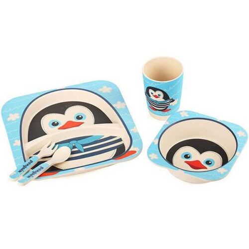Bambus set za jelo Pingvin