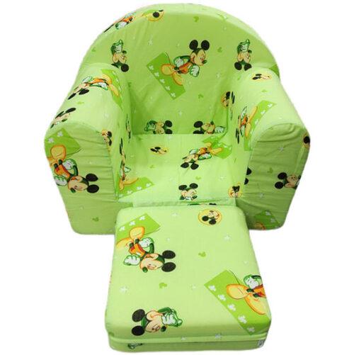miki maus zelena decija fotelja