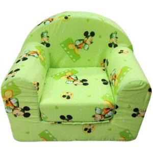 zelena fotelja za decu miki maus