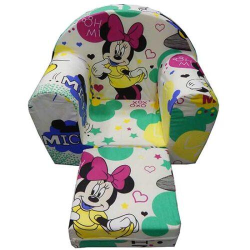 Fotelja za decu Soft Minnie bela 2