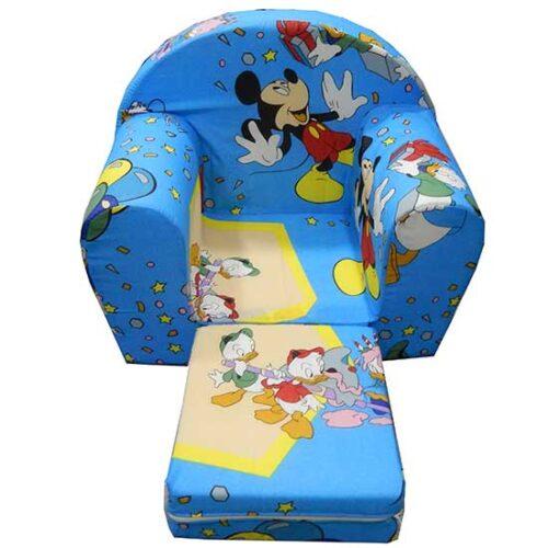 Foteljica za deci Soft Mickey plava 2