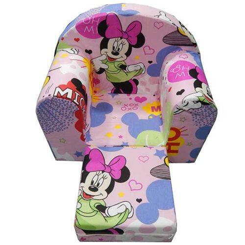 Foteljica za deci Soft Minnie roze 2