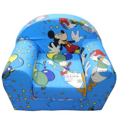 Foteljica za decu Soft Mickey mouse plava 1