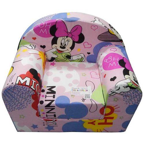 Foteljica za decu Soft Minnie mouse roze 1
