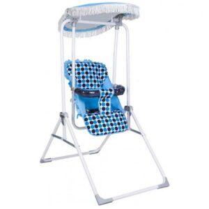 metalna ljuljaska za bebe fast plava