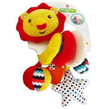 Zuto crveni lav igracka za kolica