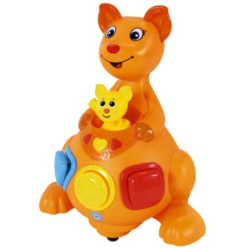 Narandzasti kengur edukativna igracka za bebe kengur Mica 2