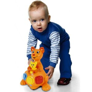 Narandzasti kengur edukativna igracka za bebe kengur Mica