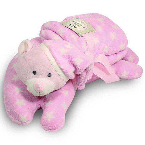 Jastuk i cebe za bebe Sleepy roze