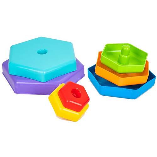Plasticna igracka za bebe piramida Duga