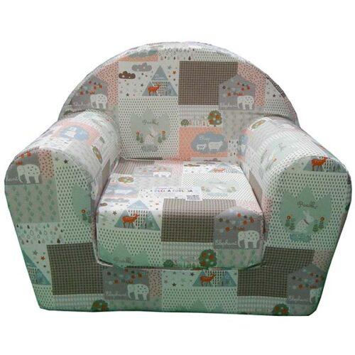 Foteljica za decu Soft sa motivom slona