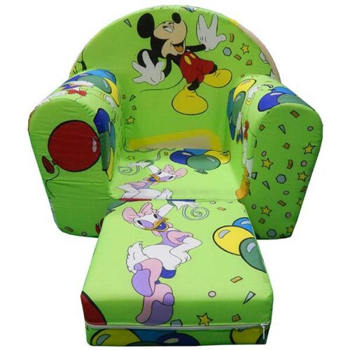 Zelena sundjerasta foteljica za decu Mickey mouse
