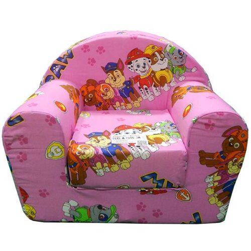 Fotelja za decu roze Patrolne sape