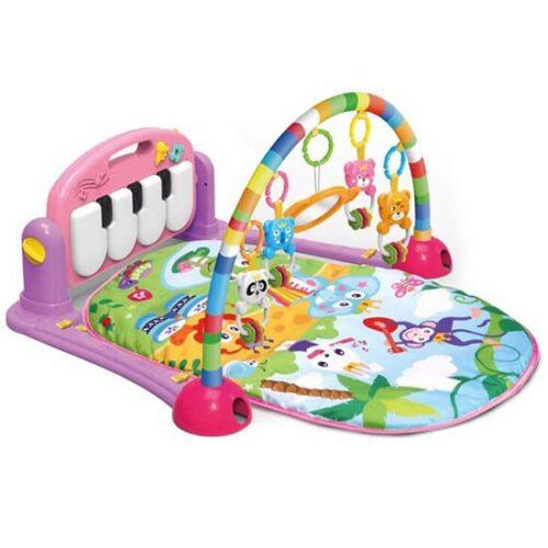 Podloga za bebe sa lukom i klavijaturom Huanger pink