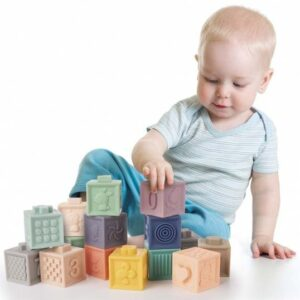 Gumene kocke za bebe Sensory