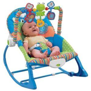 plava ljuljaska za bebe sa vibracijom iBaby