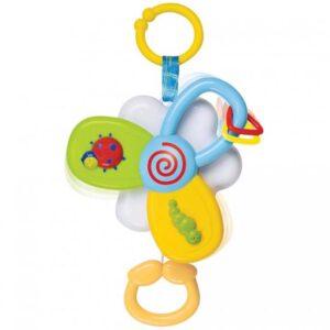 Plasticna muzicka igracka za kolica u obliku cveta
